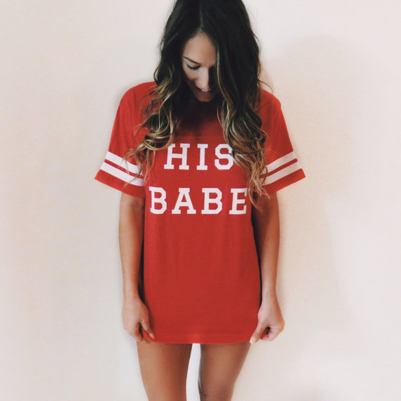 We want this comfy His Babe sleep tee!