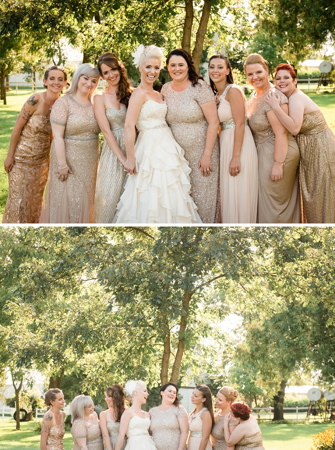 The Bride and her stunning Bridesmaids before the first look!