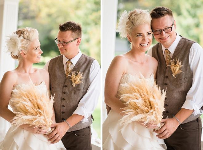 We love this Bride's unique wheat bouquet! So stunning!