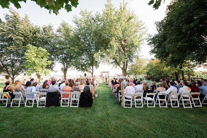 We're loving this stunning outdoor wedding with tons of DIY details!