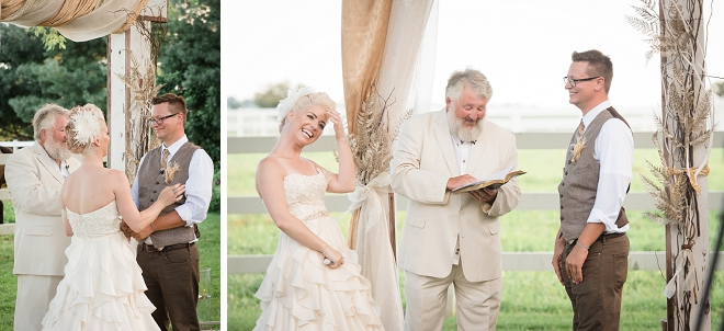 Swooning over this couple's stunning outdoor ceremony!