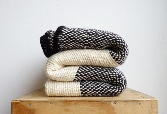 How warm and cozy does this striped blanket look?!