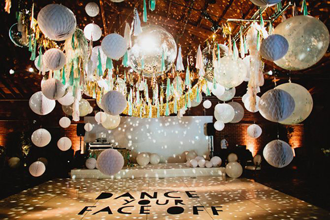 Disco ball dance floors are the very best!