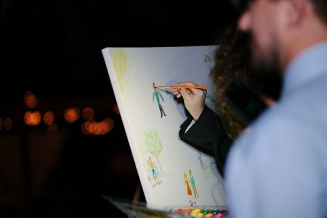 We love this unique paint yourself guest book idea!