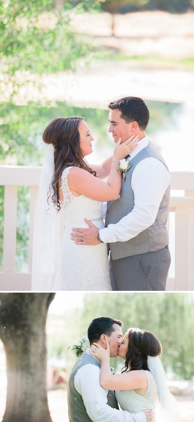 Super sweet first kiss as Mr. and Mrs!
