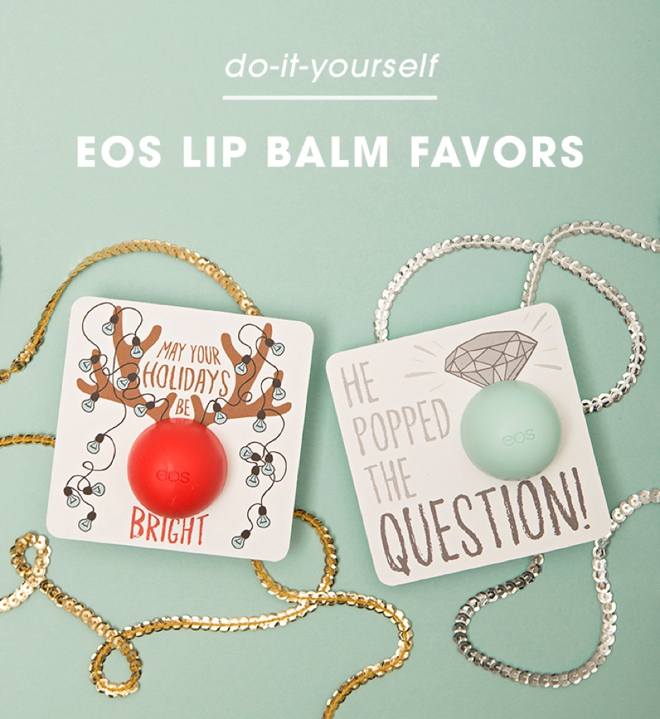 These are just the cutest DIY EOS lip balm gifts!