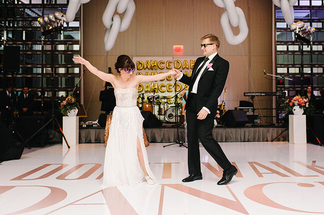 Dance floor decor that's so fly!