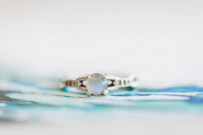 Stunning and unique engagement ring at this styled shoot!