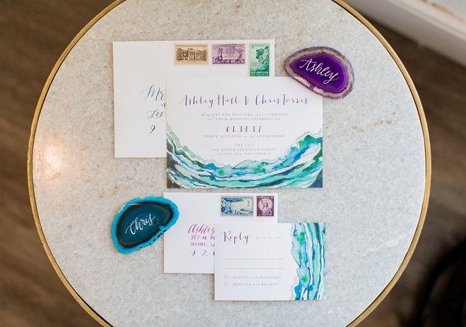 We love these stunning jewel toned invitations! Stunning!