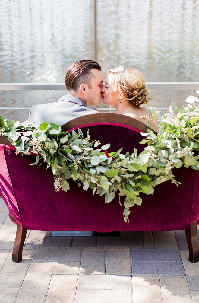 Swooning over this stunning jewel toned styled wedding!