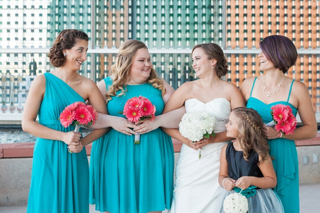 The beautiful Bride with her Bridesmaid's and daughter before the big day!