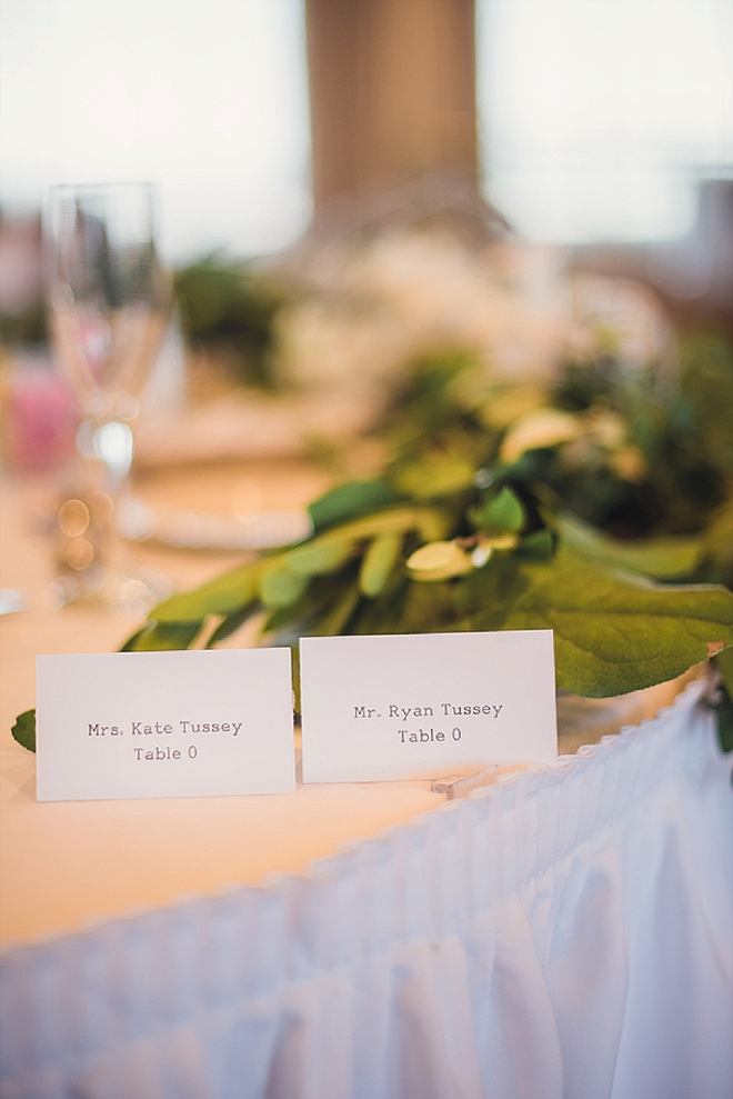 Such a sweet snap of this Mr. and Mrs. sweetheart table!