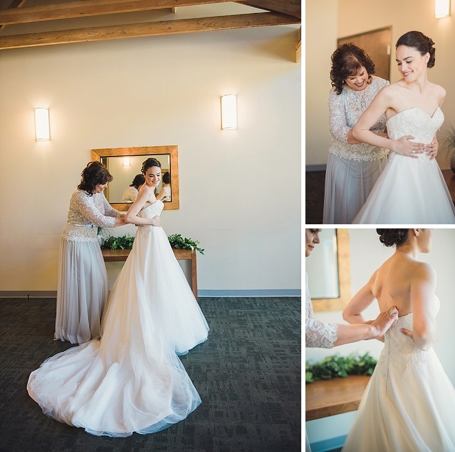 Sweet snaps of the Bride getting ready for the ceremony!