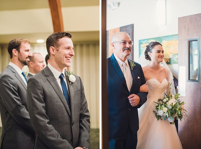 We're crushing on this super sweet ceremony at this gorgeous Santa Barbara wedding!