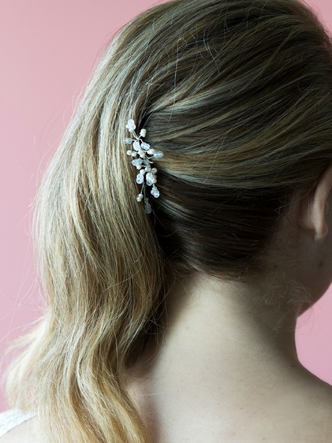 Learn how to make this stunning vine-style bridal hair pin! It's easier than you think!