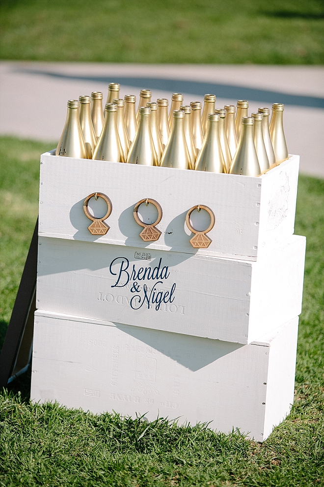 We are amazed by this gorgeous handmade ring toss reception game!