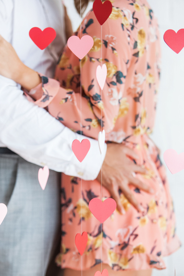Stunning engagement session filled with love and hearts!