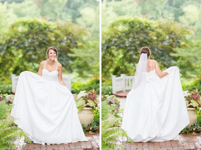 We love this Bride's wedding dress with pockets!
