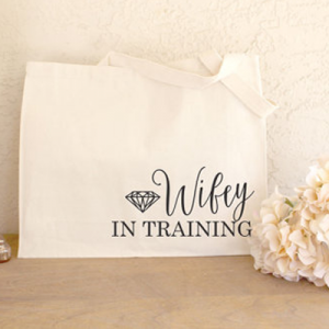 Every new bride needs this wifey in training tote!