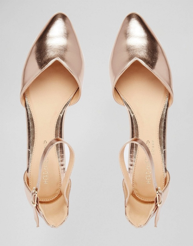 These Metallic flats are so romantic and dreamy!