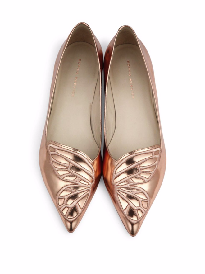 These butterfly shoes are so stinking cute.