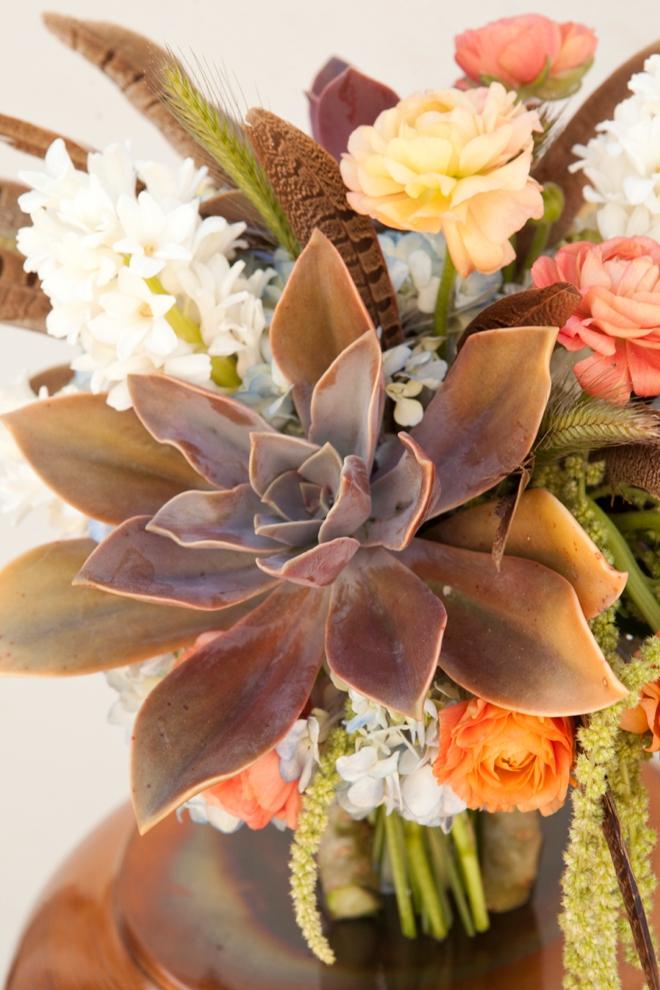 Wedding-Bouquet-Blueprint-boho-feathers-succulents_0005 Garden Design With Succulents on design garden with flowers, design garden with rhododendrons, design garden with peonies,