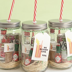 Wedding Gift Check Who To Make It Out To : DIY Mason Jar Bloody Mary Gift + Spice Recipe