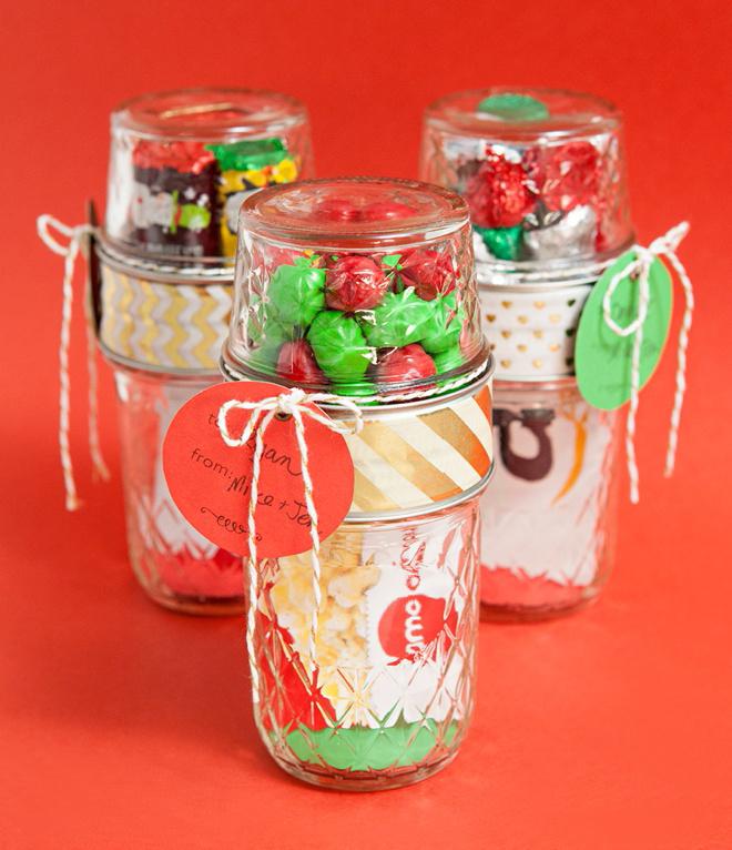 make your own double mason jar gift card holders. Black Bedroom Furniture Sets. Home Design Ideas