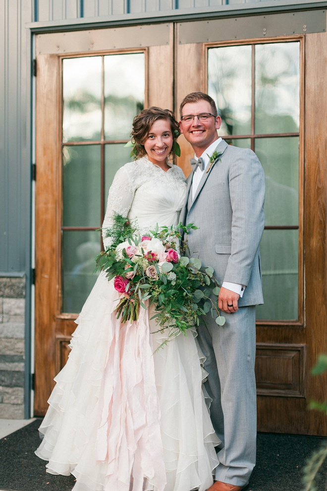 Swooning over this darling couple and their romantic boho wedding!