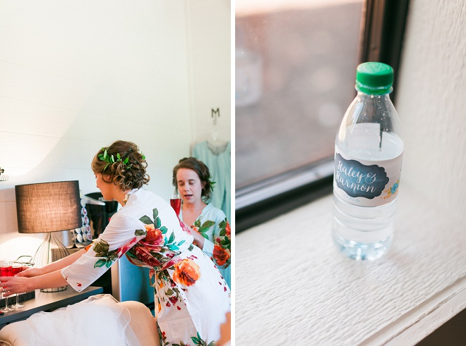 How darling are these personalized water bottle labels?! Love it!