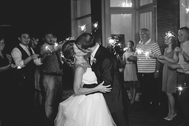 We're swooning over this gorgeous DIY wedding and this couple's fun sparkler exit!