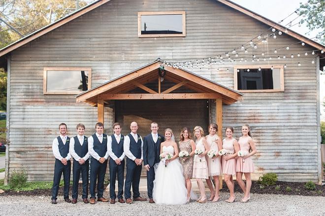 We're loving this fun bridal party at this gorgeous DIY wedding!