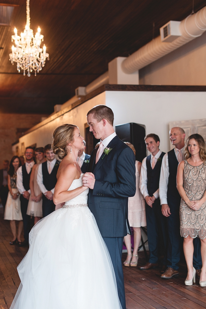 Swooning over this darling couple's first dance as Mr. and Mrs!
