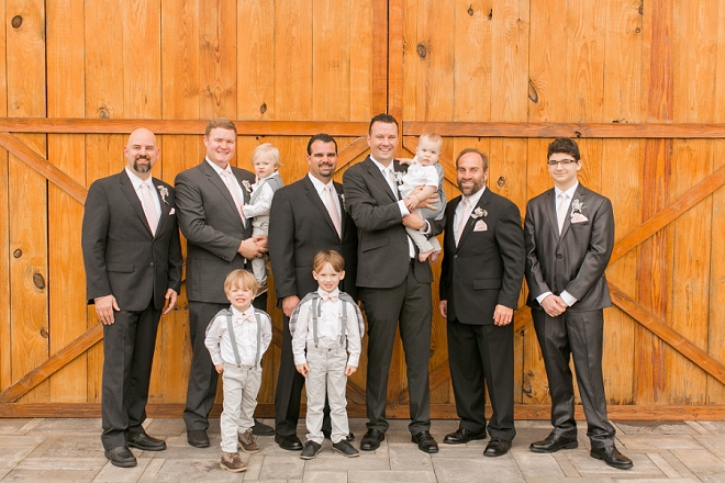 The Groom and his Groomsmen before the wedding ceremony!
